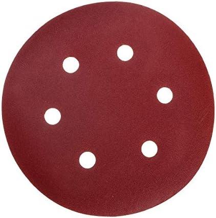 L.W.SURL Sanding Discs 50pcs 150mm 6 Holes Sanding Disc 40-800 Grit Sand Paper Abrasive Tool