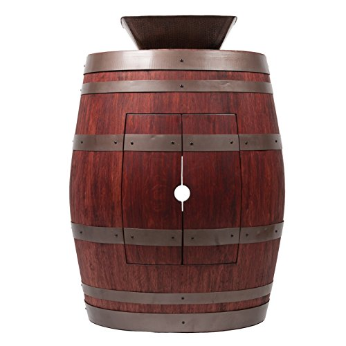 Premier Copper Products Wine Barrel Cabernet Finish Vanity Package with 14-inch Square Vessel Sink