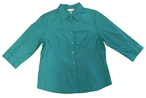 CHRISTOPHER & BANKS Women's Button Front Shirt Large Aqua Blue from CHRISTOPHER & BANKS