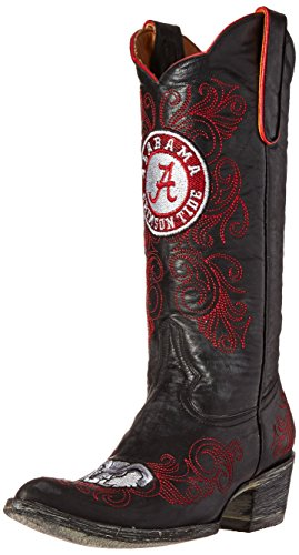 GAMEDAY BOOTS NCAA Alabama Crimson Tide Women's 13-Inch, Black, 7.5 B (M) US