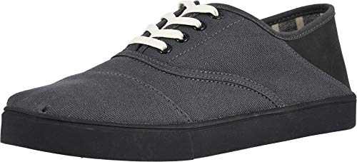 TOMS Men's Cordones Convertible Cupsole Forged Iron Textured Twill Convertible Cupsole 10 D US