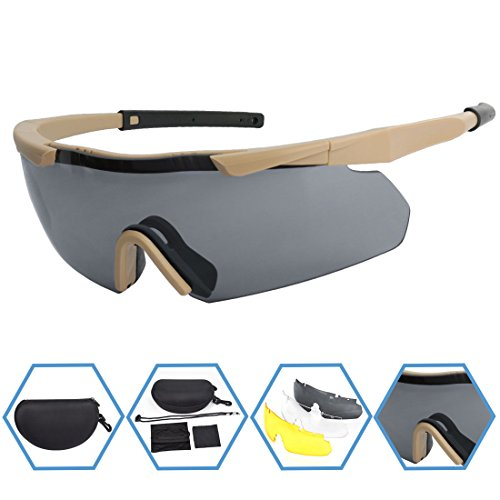 xaegis-tactical-eyewear-3-interchangeable-lenses-outdoor-antifog-safety-glasses-hard-shell-case-unisex-shooting-glasses-cycling-driving-hikingfishing-hunting-khaki-frame