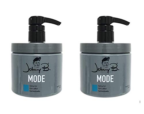 Bundle -2 Items : Johnny B Mode Hair Styling Gel 16 Oz With Pump (New Packaging)