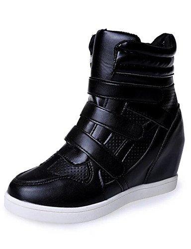 XZZ/ Damen-Stiefel-Büro / Lässig / Sportlich-Kunstleder-Flacher Absatz-Creepers / Komfort / Stifelette / Passende Schuhe & Taschen / Rollschuh black-us5.5 / eu36 / uk3.5 / cn35