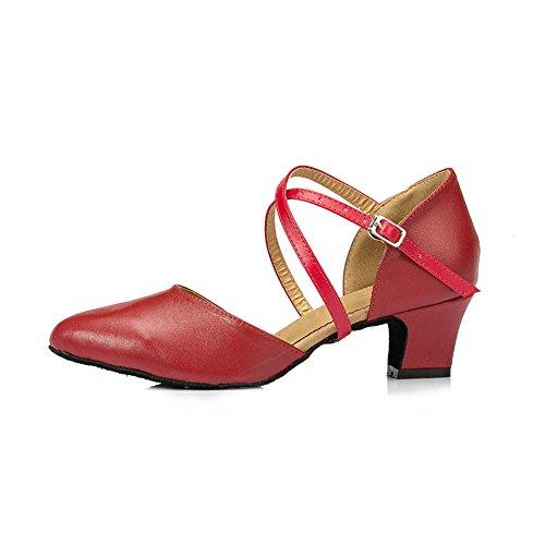 Dansantes Semelle Pour Bal Danse Salle Un Misu Chaussures Salon En La Ferm Femmes Talon De Bout Daim 8 1 md Avec wZYq5CY7