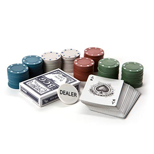 (Tri-Coastal Design Poker Set to Fit on Desktop or Tabletop - Small, Portable Travel Games for Kids or Adults)