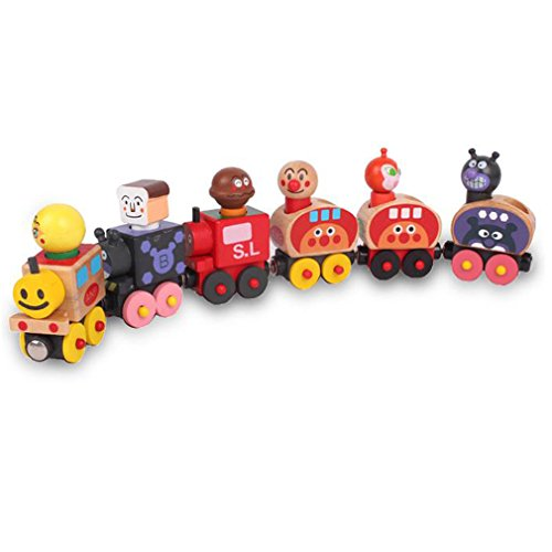 BabyPrice Wooden Animal Train Cars Set Engines & Train Cars (Into The Woods Characters Costumes)