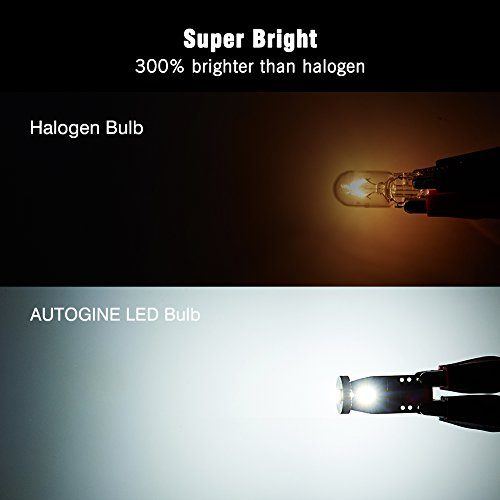 AUTOGINE-10pcs-Super-Bright-Error-Free-194-168-175-2825-W5W-T10-912-LED-Bulbs-Xenon-White-3030-Chipset-for-Car-Interior-Dome-Map-Door-Courtesy-Trunk-License-Plate-Lights