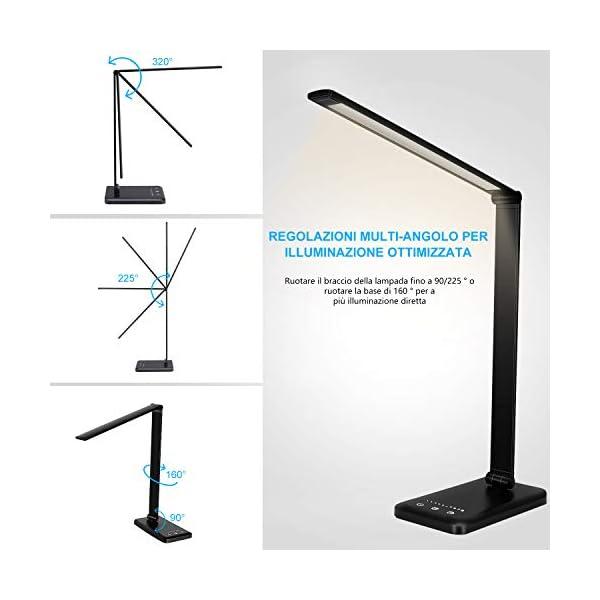 Lampada Da Scrivania Lampada Da Tavolo Con Funzione Di Protezione Degli Occhi Lampada Con 10 Livelli Di Luminosita 5 Startek