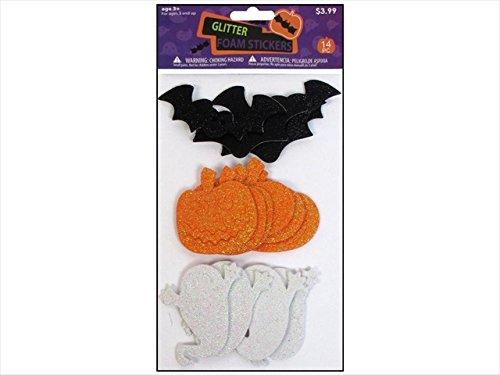 Sierra Pacific Crafts SPC Foam Shapes Halloween Glitter Assorted ()