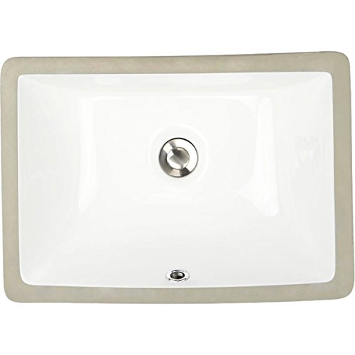 Highpoint Collection Petite 16x11 Rectangle Ceramic Undermount Vanity Lavatory Sink by HIGHPOINT COLLECTION by HIGHPOINT COLLECTION