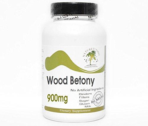 Wood Betony 900mg ~ 200 Capsules - No Additives ~ Naturetition - Betony Herb Wood Powder