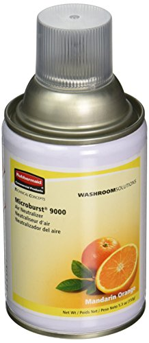 Rubbermaid Commercial Microburst 9000 Mandarin Orange Air Freshener Refills, 5.3 oz, 4 count
