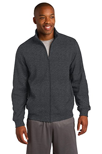 (Sport-Tek Men's Full Zip Sweatshirt,Medium,Graphite Hthr)