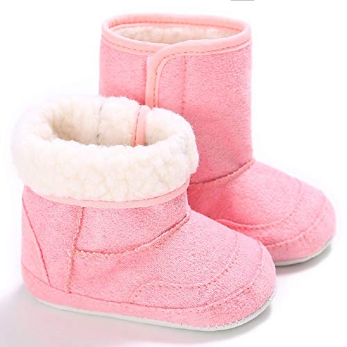 Pictures of Fnnetiana Unisex Baby Soft Sole Anti-Slip Dark Pink 2