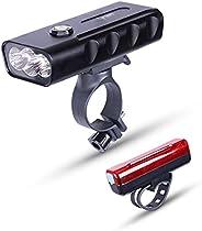 KAPV SINCE DAY ONE 3 LED Bike Light, USB Rechargeable Bicycle Headlight,1500 Lumens, PowerBank, Super Bright F