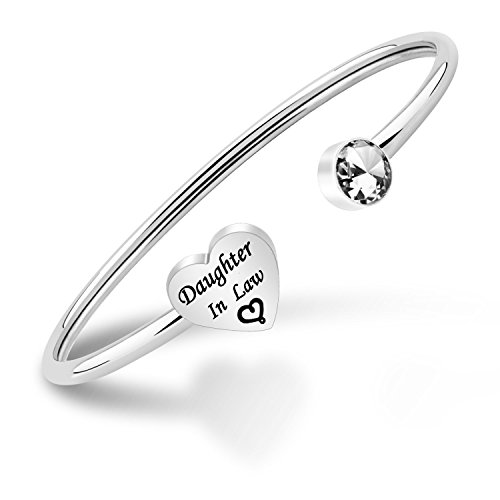 ENSIANTH Daughter-In-Law Bangle Bracelet Wedding Gifts Daughter in Law...