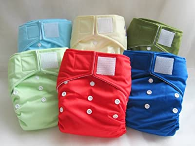 "Kawaii Baby One Size Heavy Duty in Velcro Closure Pocket Diaper ""Crocodile"""