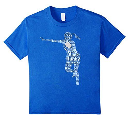(Kids Girls Rugby Player T-Shirt - Rugby Clothing 10 Royal Blue)