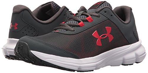 Under Armour Kids' Grade School Rave 2 Sneaker,Stealth Gray (100)/White,3.5 M US by Under Armour (Image #6)
