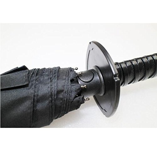 Amazon.com : New Arrival Samurai Katana Shape Umbrella Designed with Comfortable Samurai Sword Handle (Black) (Black) : Sports & Outdoors