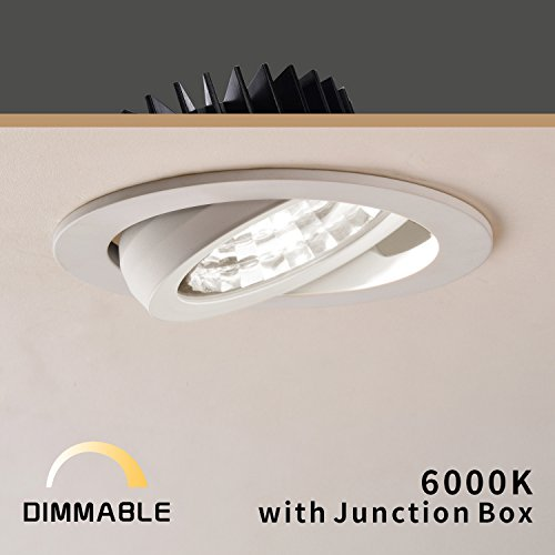 OBSESS 12W 4-Inch LED Recessed Ceiling Light Downlight Spotlight Recessed Lighting Fixture Recessed LED Downlight with Connection Box-Daylight 6000K,900 Lumen,Dimmable(LED Recessed Ceiling Lights)