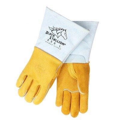 Revco Industries - Black Stallion Premium Grain Elkskin Welding Gloves - X-Large (Gloves Black Welding Stallion)