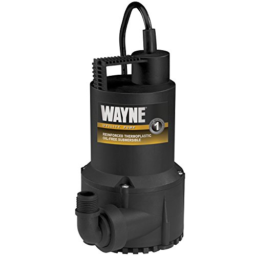 1 Hp Submersible Water (WAYNE RUP160 1/6 HP Oil Free Submersible Multi-Purpose Water Pump)