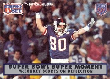 Phil McConkey football card (New York Giants) 1990 Pro Set #150 Super Bowl XXI Super Moment ()