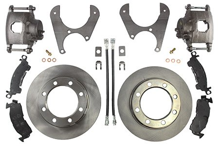 Dana 60 Brakes - Ruffstuff Rear Axle Disc Brake Kit (Without Steel Braided), Compatible With Ford Dana 60 77' Newer
