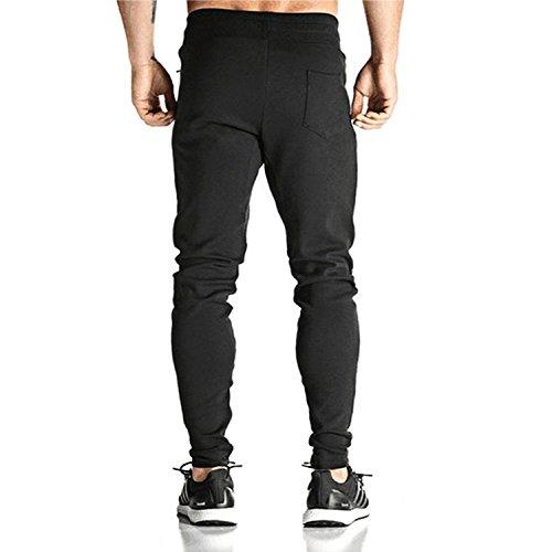 Donhobo Men's Elastic Cuffed Casual Drawstring Training Jogger Athletic Pants Sweatpants