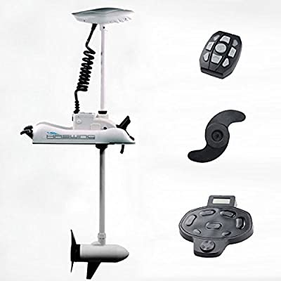 "Haswing Cayman 24v 80lbs Bow Mount Electric Trolling Motor White 60"" Shaft with foot control"