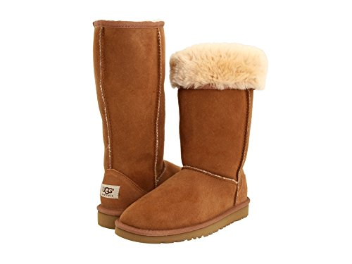 (UGG Kids Girls' Classic Tall (Little Big Kid), Chestnut, 13 M)