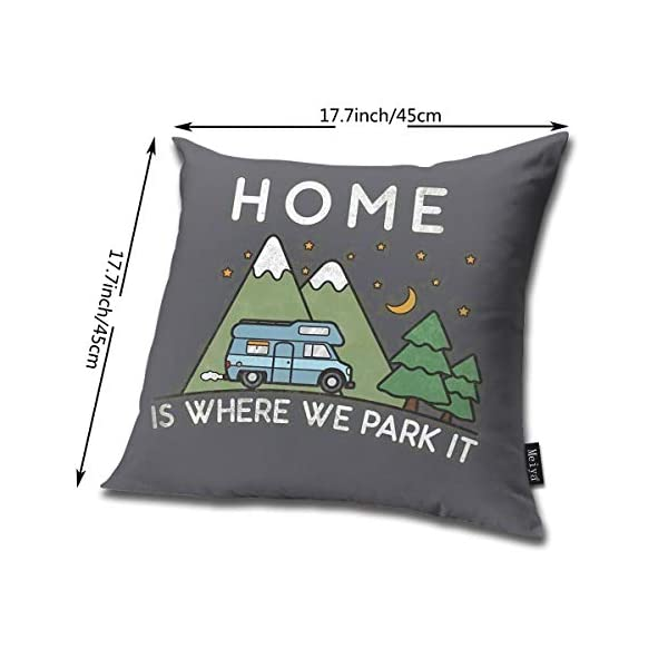 415OsGQUJmL QMS CONTRACTING LIMITED Throw Pillow Cover Camping Home is Where We Park It Campervan Gift Decorative Pillow Case Home…