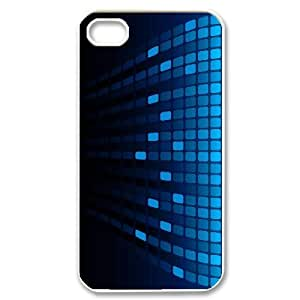 abstract 3D Square Case For iPhone 4/4s White
