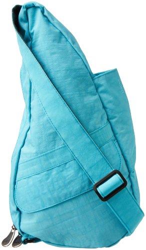 AmeriBag HBB-XSM-Distressed Nylon 6102-CB Tote,Caribbean Blue,One (Healthy Back Bag)