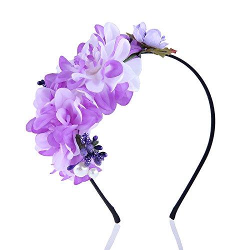 - Olici Headdress Accessories/Hair Pins/Party/Prom/Bride/Girls Fresh Gradient Multicolor Flowers Hoop Hoop Ornaments Flower Violet Hair Ornaments