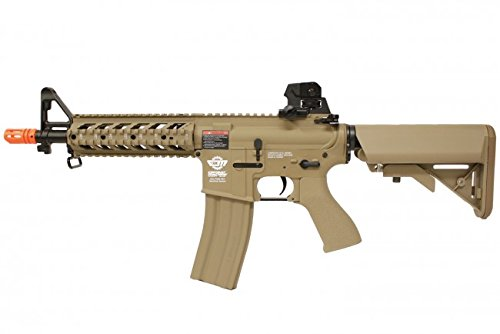 combat machine m4 raider shorty w/ polymer ris (tan/cqb) (battery and charger package)(Airsoft Gun)