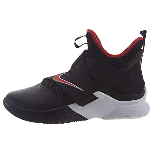 newest collection 13cb4 886a2 NIKE Men s Zoom Lebron Soldier XII Basketball Shoes (11, Black Red White)