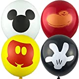 40pcs Mickey Mouse Balloons 4 Designs for Kids Birthday Party Favor Supplies Decorations