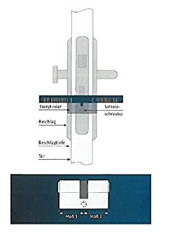 04996 ABUS Profil-Zylinder C73N 40//45
