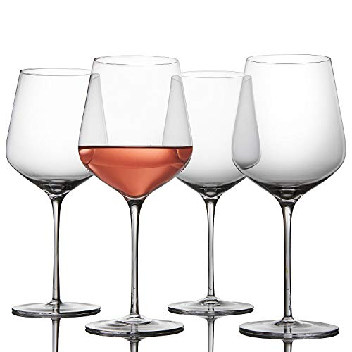 Fusion Air by Wine Enthusiast Go-To Universal Wine Glasses - Set of 4 - Unbelievably Light & Unbreakably Strong - Only 9-1/8 Inches Tall, Fits in Most Cabinets