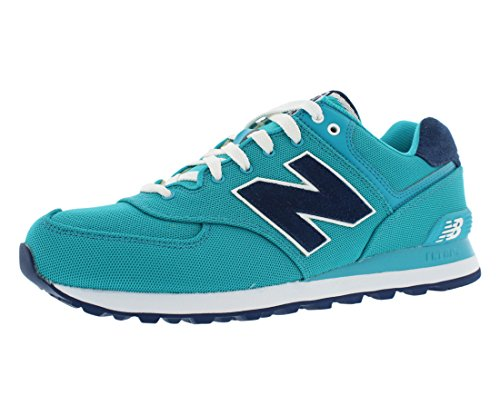 New Womens Polo (New Balance Women's WL574 Pique Polo Collection Running Shoe, Blue Aster/Navy, 9.5 B)