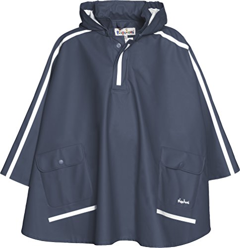 Playshoes Regen-Cape langer Rcken 408568 Unisex - Kinder Regenmntel, Gr. 140 Blau (marine 11)