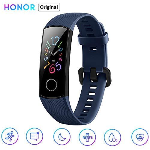 Honor Band 5 Fitness Smart Armband 0,95 Zoll AMOLED Bluetooth 4.2 Smart Watch 5ATM wasserdichte (blau)