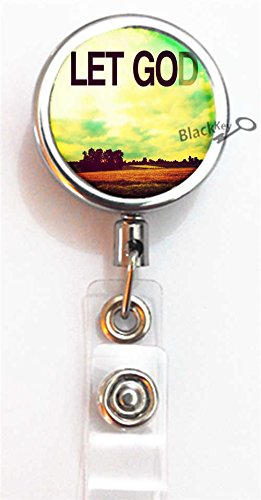BlackKey Let Go and Let God Retractable ID Card Badge Holder Reel with Lanyard & Belt Clip -693