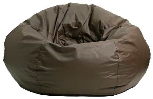 Gold Medal Bean Bags Leather Look Vinyl Bean Bag, X-Large, Walnut (Large Vinyl Bean Bag)
