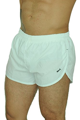 UZZI Men's Basic Running Shorts Swimwear Trunks 1830 White L by UZZI
