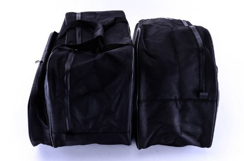 Pair Bestem LGBM-K12CD-SDL Black Saddlebag Sideliners with CD Pouch for BMW K1200LT