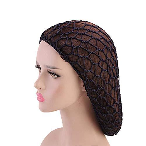 Qianmome Women Soft Rayon Snood Hat Hair Net Crocheted Hair Net Cap Mix Colors - Net Hair Crocheted